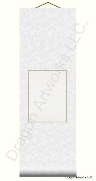Small White Traditional Blank Wall Scroll