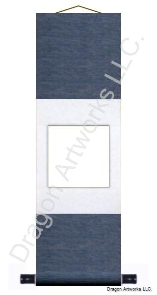 Blue and White Traditional Blank Wall Scroll