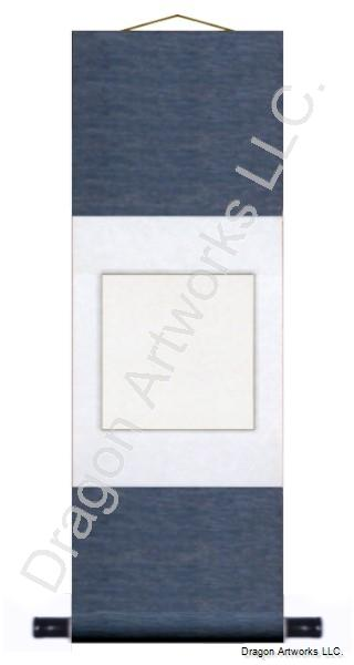 Traditional Chinese Blue Blank Wall Scroll