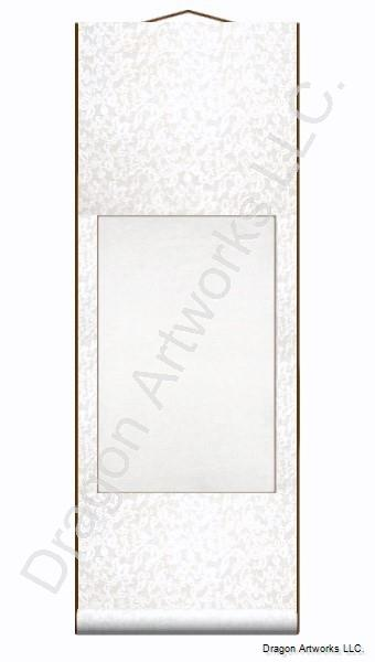 White Blank Chinese Wall Scroll for Calligraphy or Painting
