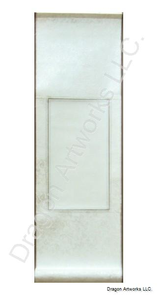 Small White Chinese Blank Paper Wall Scroll