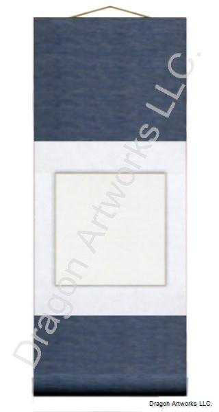 Small Blue and White Chinese Blank Paper Scroll
