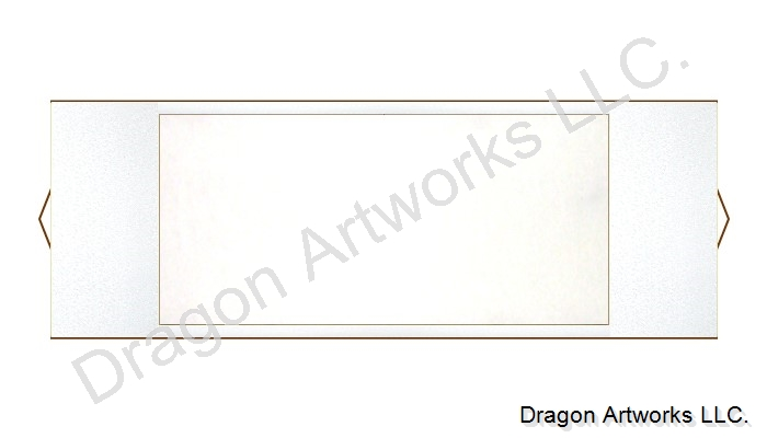 White Horizontal Chinese Blank Paper Scroll