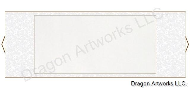 White Premium Horizontal Blank Paper Scroll