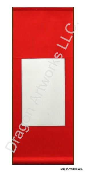 Red Cotton Blank Paper Scroll