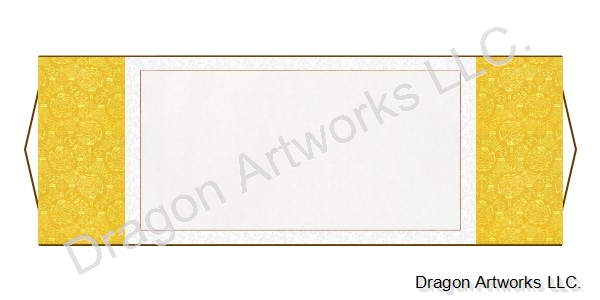 Chinese Horizontal Blank Wall Scroll - Yellow and White