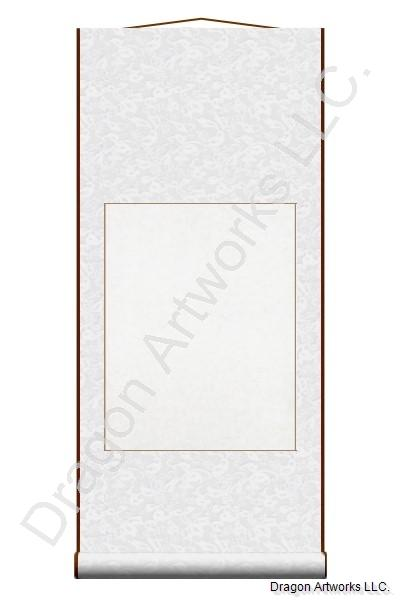 Pure White Blank Paper Chinese Wall Scroll