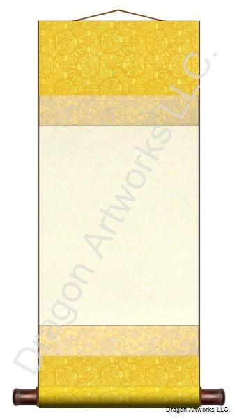 Sunshine Yellow and Gold 10x23 Inch Blank Wall Scroll