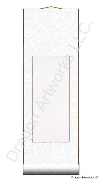 Small Blank Paper Scroll - White Silk
