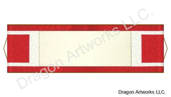 Unique Design Red and White Blank Paper Wall Scroll