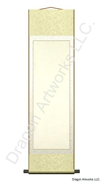 Medium Yellow Blank Paper 15x54 Inch Chinese Scroll