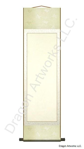 Cream Color 15x54 Inch Blank Chinese Scroll
