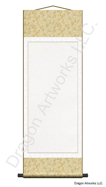 Large Gold-White Blank Wall Scroll