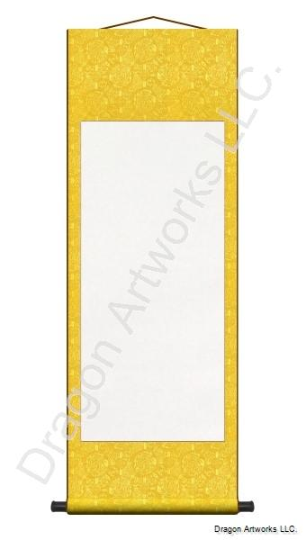 Dragon Yellow Blank Chinese Wall Scroll