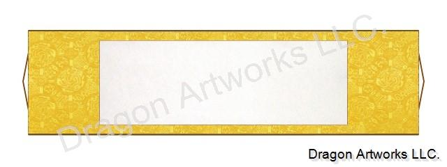 dragon yellow horizontal blank paper chinese scroll, Powerpoint templates