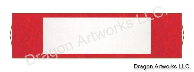 Bright Red Horizontal Blank Paper Chinese Wall Scroll