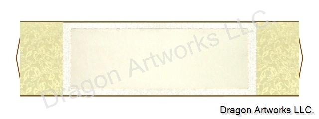 Horizontal Blank Paper 54x15 Inch Chinese Scroll