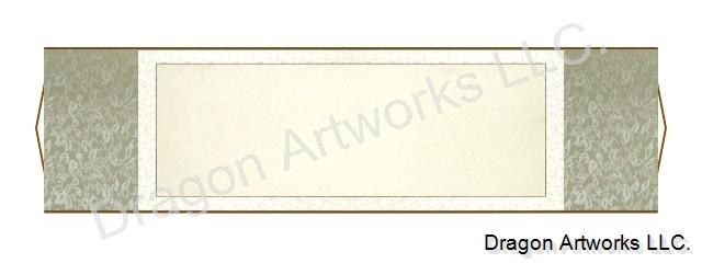 Silver Blank Paper 54x15 Inch Chinese Horizontal Wall Scroll