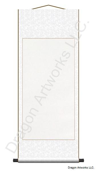 Archival Mounting White Chinese Blank Paper Wall Scroll Painting