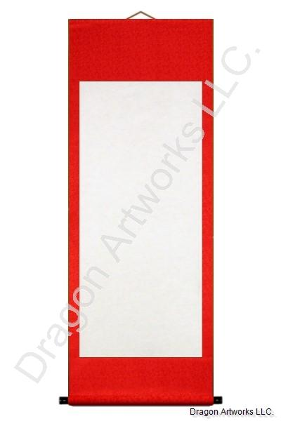 Traditional Archival Wet-Mounted Blank Wall Scroll