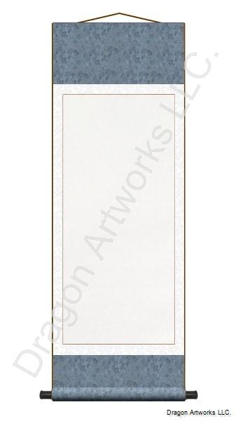 Wet-Mounted Archival Blank Paper Chinese Scroll