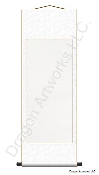 Pure White Archival Mounted Blank Paper Wall Scroll