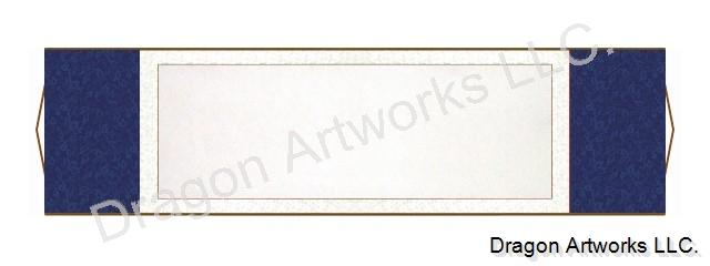 Dark Blue Horizontal Blank Paper Wall Scroll