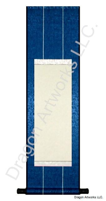 Navy Blue Premium Design Blank Chinese Wall Scroll