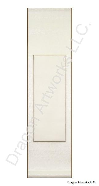 White Silk Blank Wall Scroll