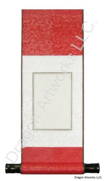 Crimson Red Small Blank Wall Scroll
