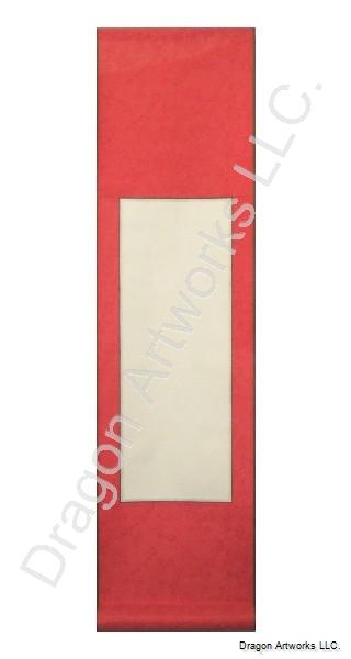 Bright Red Blank Paper Chinese Wall Scroll